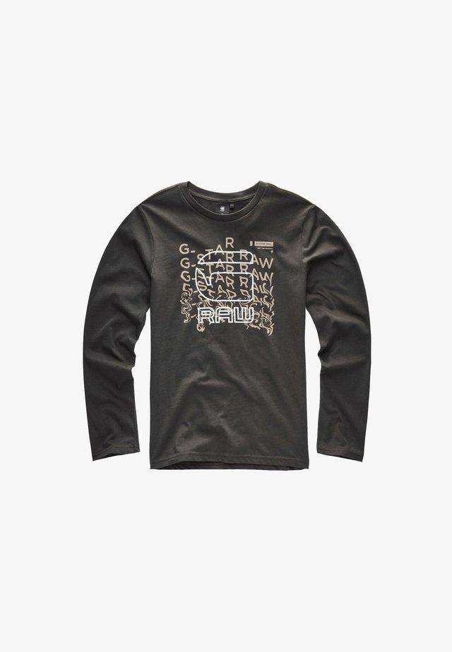 BURGER LOGO PRINTED LONG SLEEVES T-SHIRT - Camiseta de manga larga - bronze