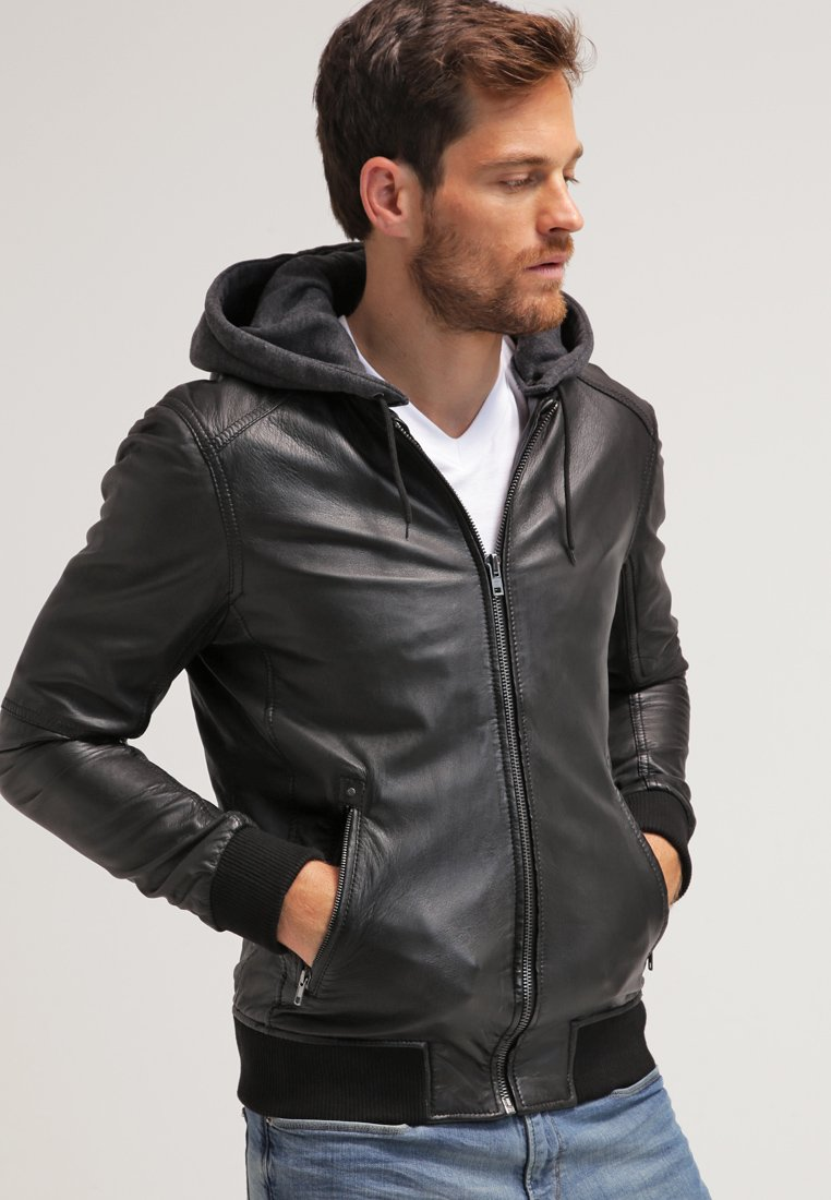 Oakwood - JIMMY - Leather jacket - noir
