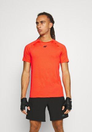 Men's training T-shirt - Print T-shirt - orange