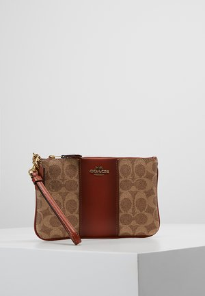 COATED SMALL WRISTLET - Portfel - tan rust