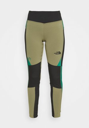 STEEP TECH - Leggings - burnt olive green/tnf black/evergreen