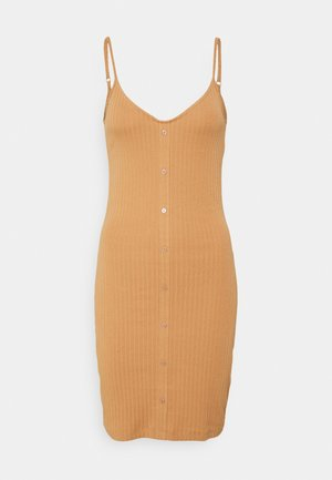 Žerzejové šaty - camel