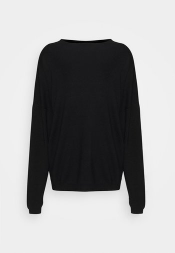 SOFT GROWN ON COLLAR - Pullover - black