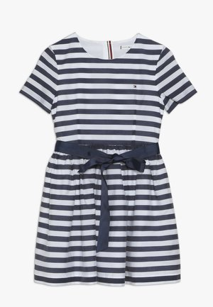 NAUTICAL STRIPE DRESS - Denní šaty - white