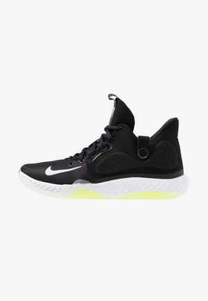 KD TREY  VII - Basketbalschoenen - black/white/cool grey/volt