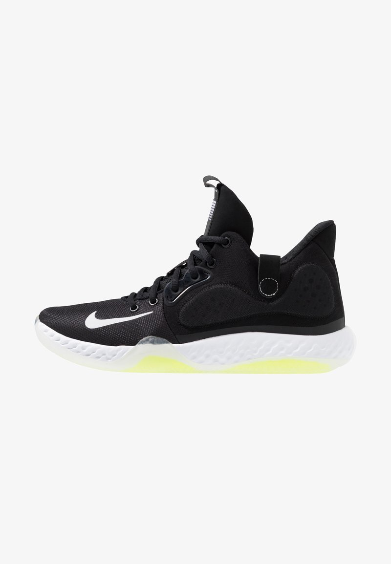 Nike Performance - KD TREY  VII - Basketball shoes - black/white/cool grey/volt