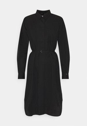 TIE CUFF SHIRT DRESS - Denní šaty - black