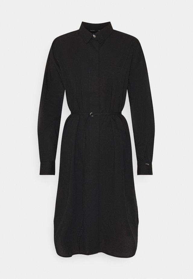 TIE CUFF SHIRT DRESS - Korte jurk - black