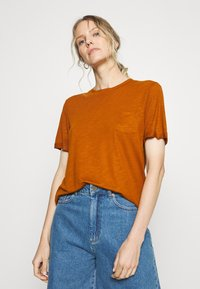 Anna Field - Basic T-shirt - caramel cafe - 0