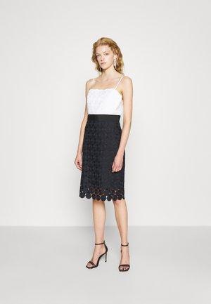 DOT COMBO DRESS - Cocktail dress / Party dress - navy