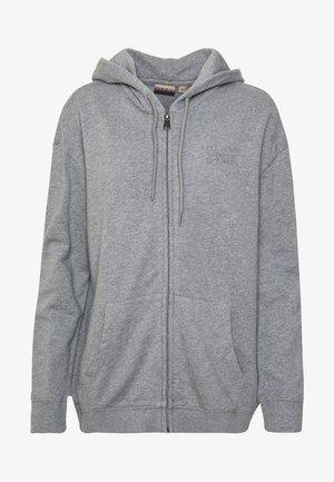 BICCARI - Zip-up hoodie - med grey mel
