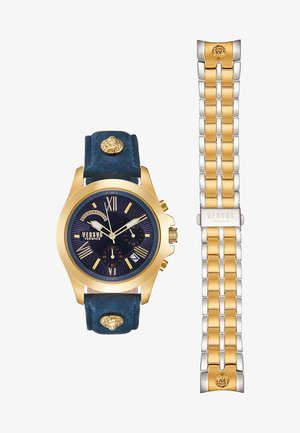 LION - Chronograph watch - gold-coloured/blue