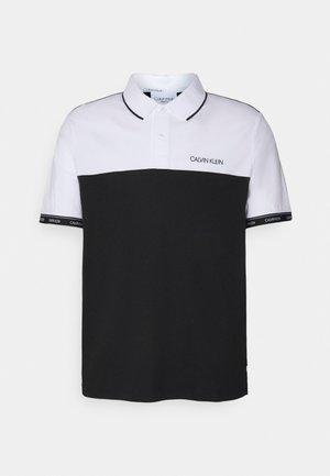 LOGO STRIPE CUFF - Polo shirt - colorblock bright white/black