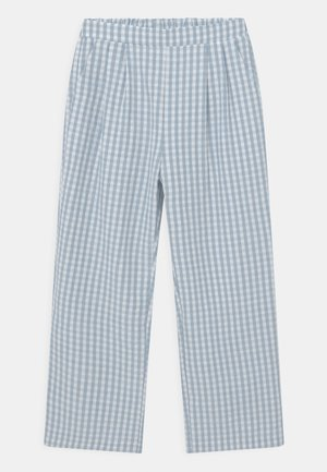 CHECK  - Trousers - light blue