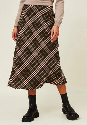 BRIELLE  - Maxi skirt - green multi check