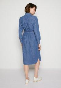 TOM TAILOR DENIM - BELTED DRESS - Day dress - blue denim - 3