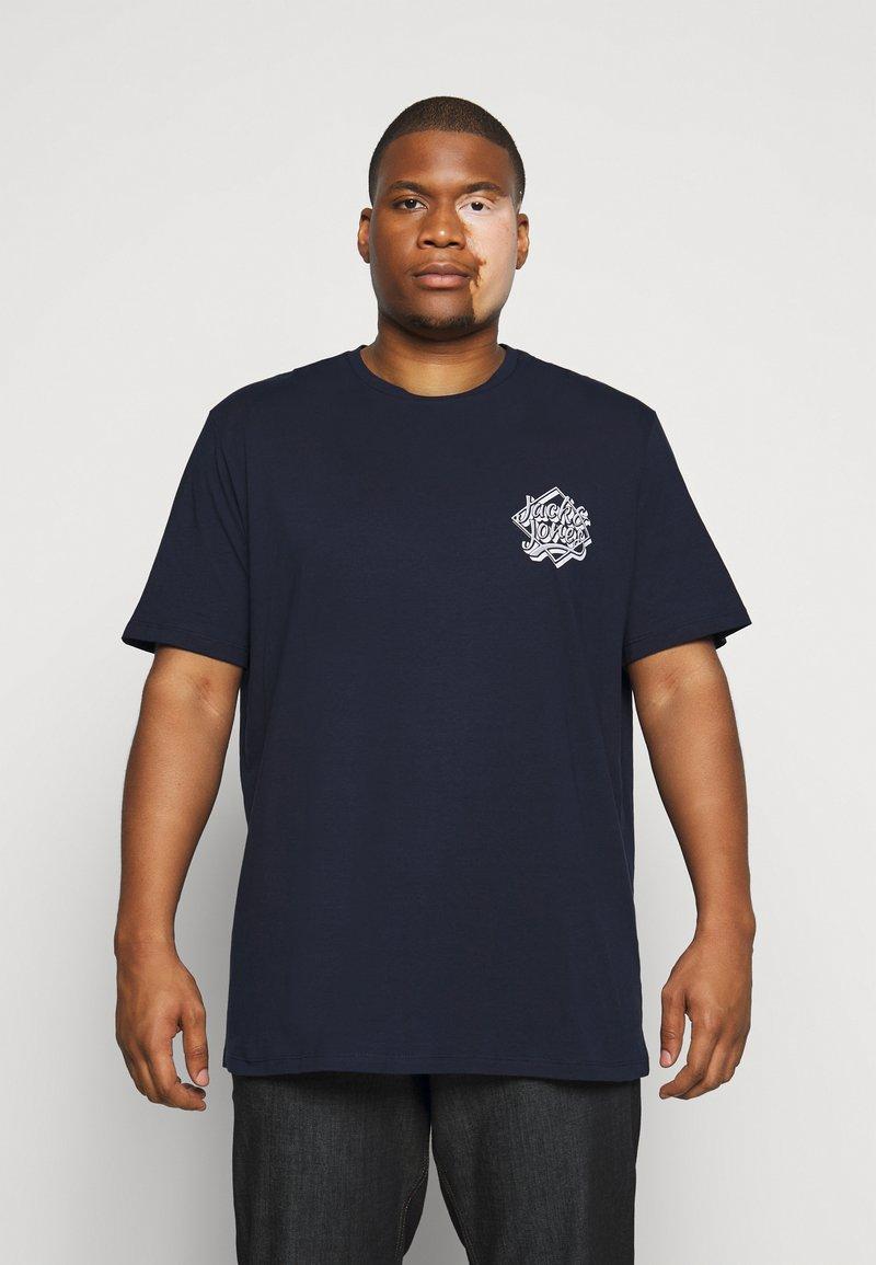 Jack & Jones - JORBRAD  - T-shirt print - navy blazer