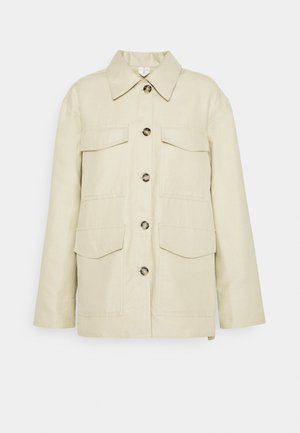 OVERSHIRT - Chaqueta fina - light yellow/green