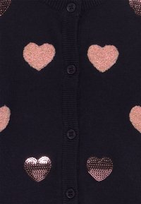 Blue Seven - KIDS SEQUIN HEARTS - Vest - nachtblau - 3