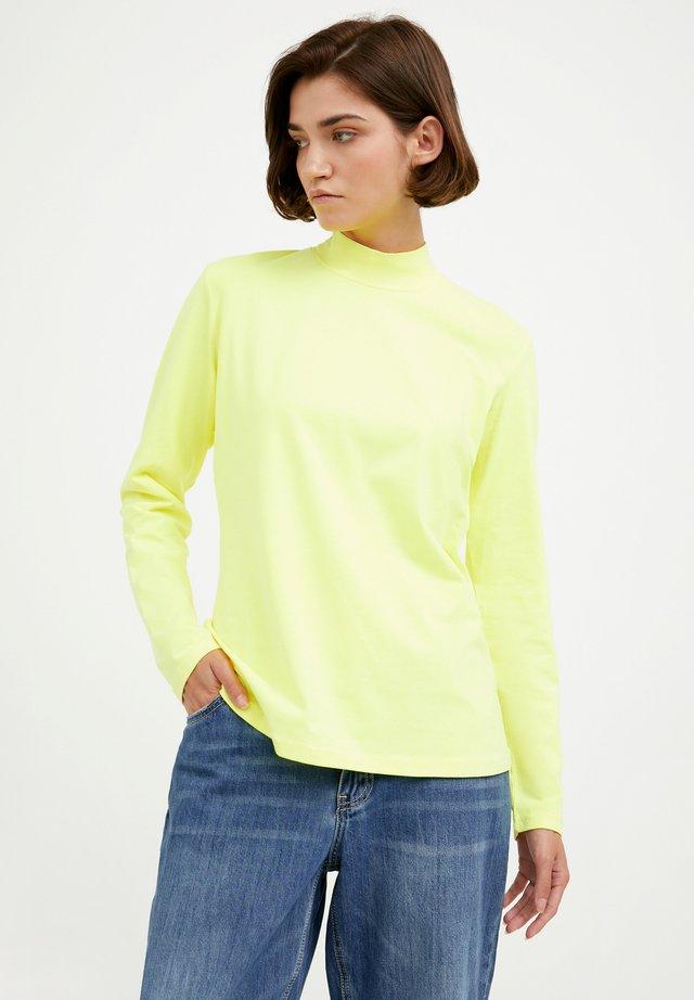 Long sleeved top - neon yellow