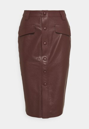 KARIN SKIRT - Pencil skirt - reddish brown