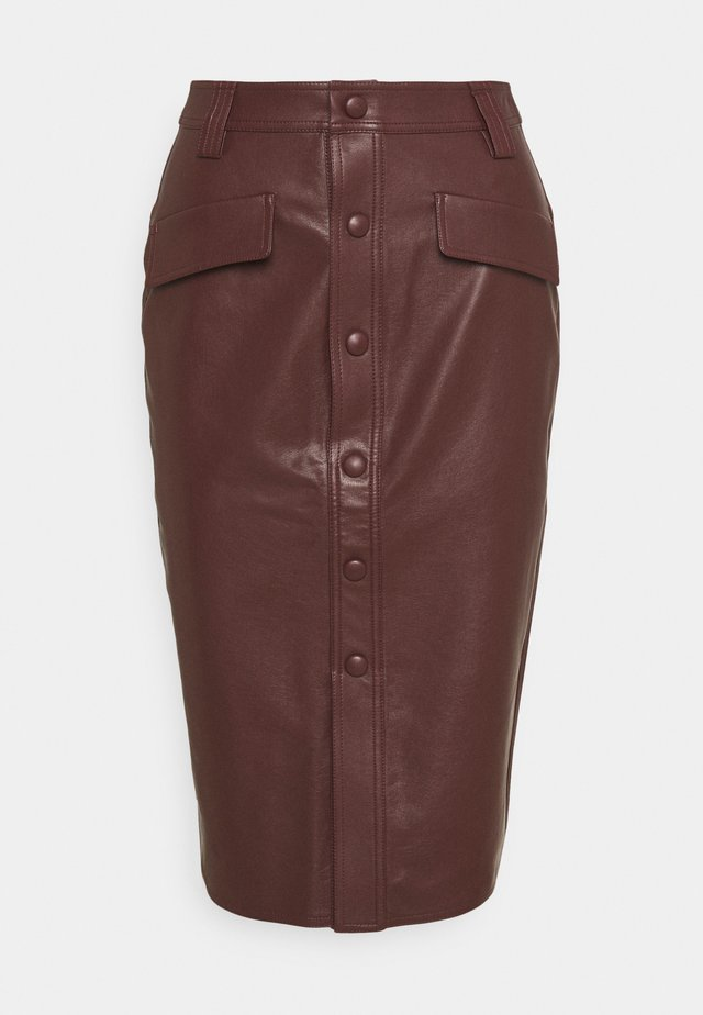 KARIN SKIRT - Kokerrok - reddish brown