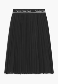 Calvin Klein Jeans - MIDI - Áčková sukně - black - 1