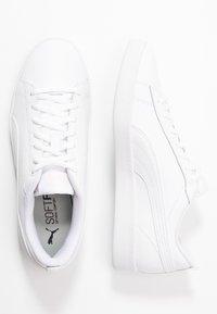 Puma - SMASH - Sneakersy niskie - white/rosewater - 3