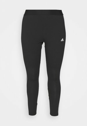 3-STRIPES SPORTS ESSENTIALS LEGGINGS FITTED PLUS SIZE - Collant - black/white