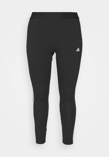 3-STRIPES SPORTS ESSENTIALS LEGGINGS FITTED PLUS SIZE - Leggings - black/white