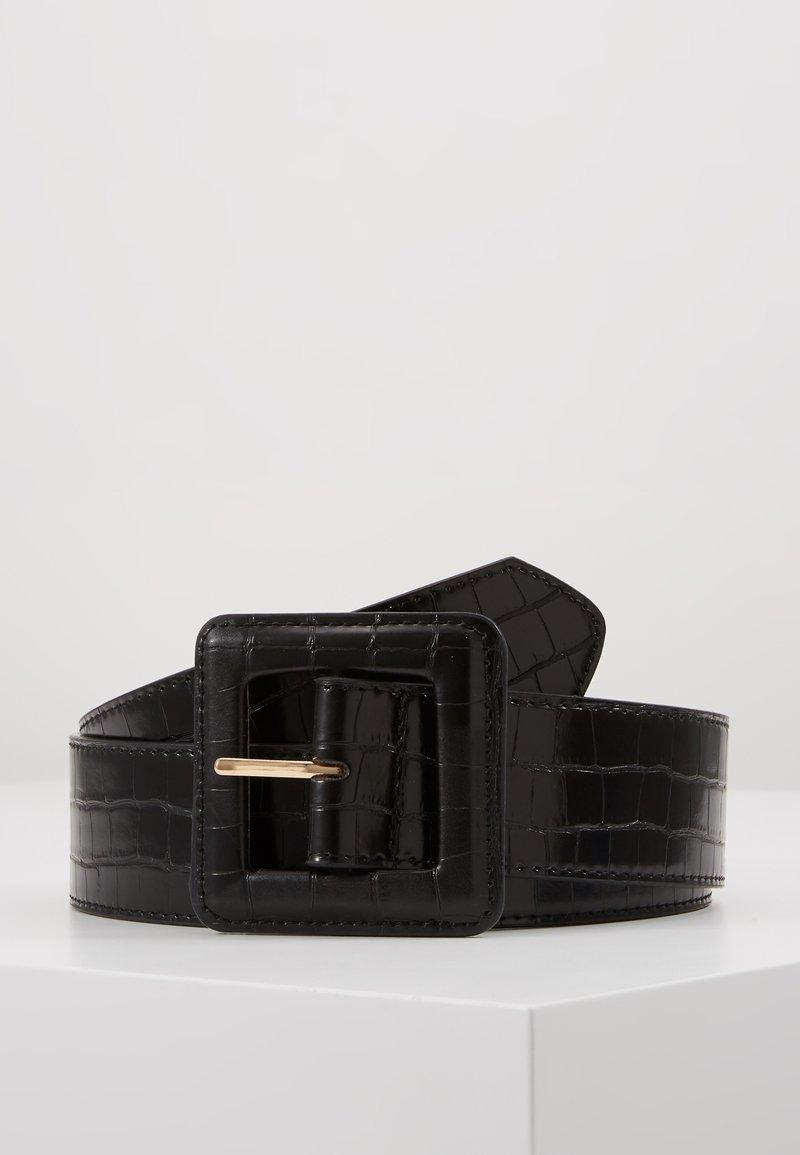NAF NAF - CROCO - Waist belt - noir