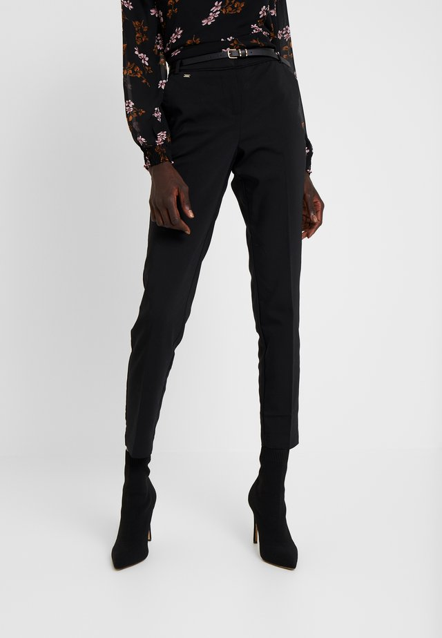 DOUBLE FACED CIGARETTE TROUSER - Kangashousut - black