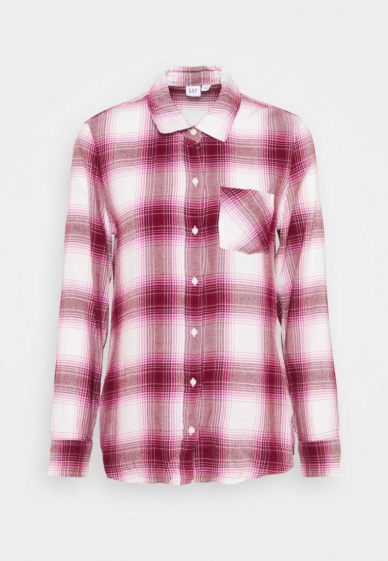 GAP - DRAPEY PLAID  - Skjorte - raspberry/milk