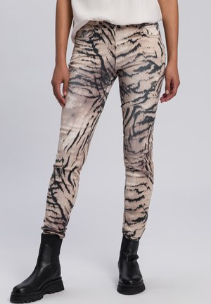 Slim fit jeans - taupe varied