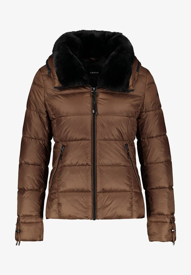 Winterjas - truffle brown