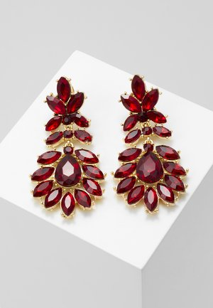 PCKARLO EARRINGS - Náušnice - burgundy