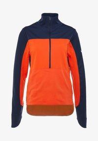 Nike Performance - REPEL TOP MIDLAYER - Bluza z polaru - obsidian/team orange/reflective silver - 7