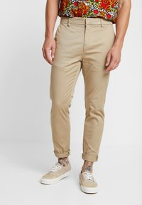 New Look - PLAIN TROUSER - Chinos - stone - 0