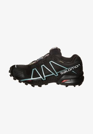 SPEEDCROSS 4 GTX - Trail running shoes - black/metallic bubble blue
