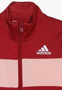 adidas Performance - ESSENTIALS SPORT INSPIRED TRACKSUIT BABY SET - Tepláková souprava - active maroon/glow pink - 5