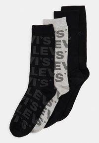 Levi's® - GIFTBOX REGULAR CUT LOGO 4 PACK - Socks - black/grey - 0