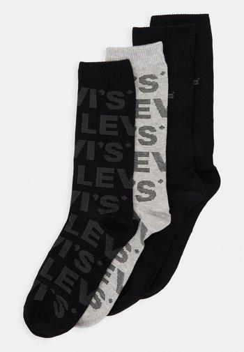 GIFTBOX REGULAR CUT LOGO 4 PACK - Socks - black/grey