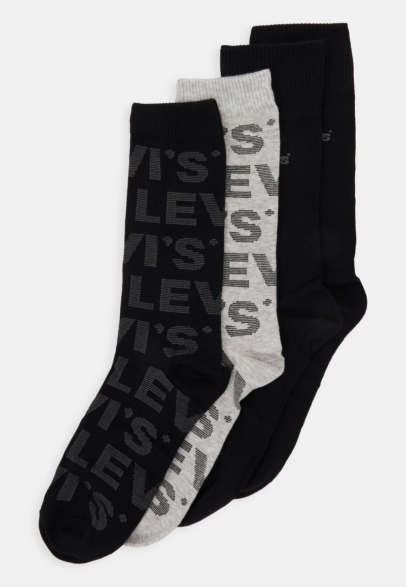Levi's® - GIFTBOX REGULAR CUT LOGO 4 PACK - Socks - black/grey