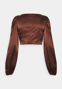 Nly by Nelly - RUCHED UP BLOUSE - Blouse - brown - 1