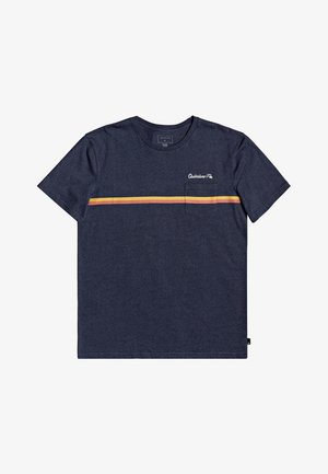 HIGH PIPED  - Basic T-shirt - navy blazer heather