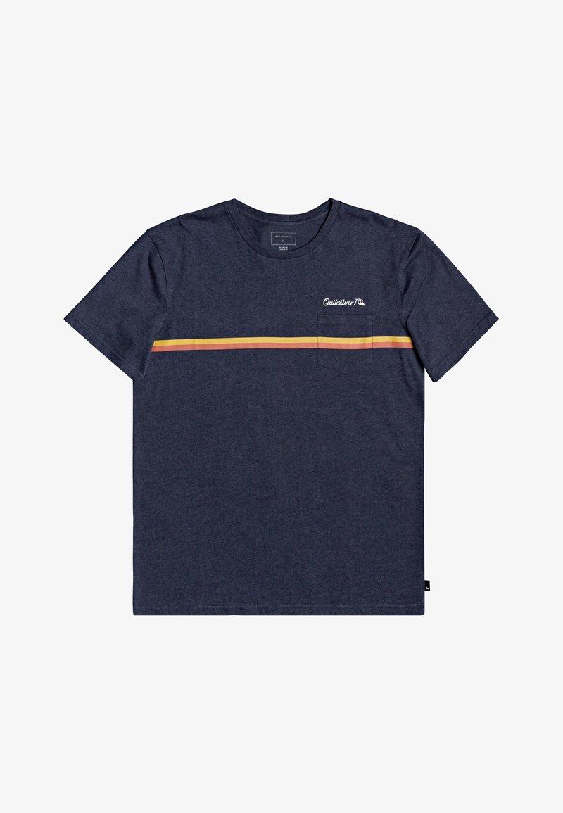 Quiksilver - HIGH PIPED  - Basic T-shirt - navy blazer heather