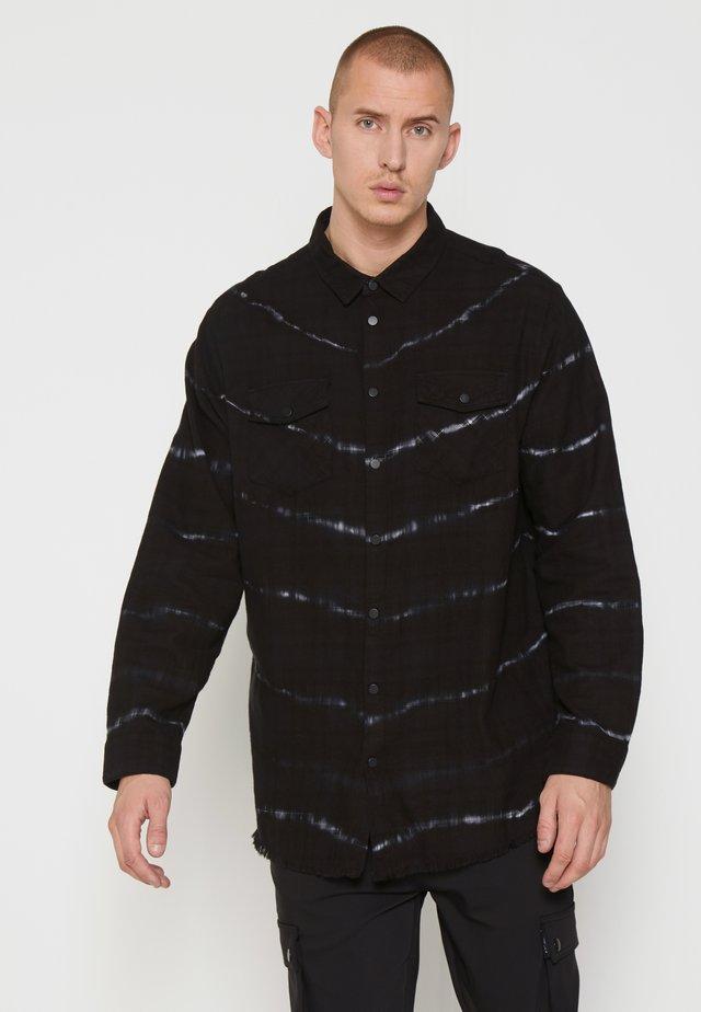 BEACTON - Camicia - black batic