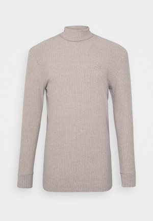 LONG SLEEVE BRUSHED TURTLE NECK - Pullover - beige