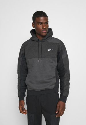 HOODIE - Sweat à capuche - black heather/smoke grey/white