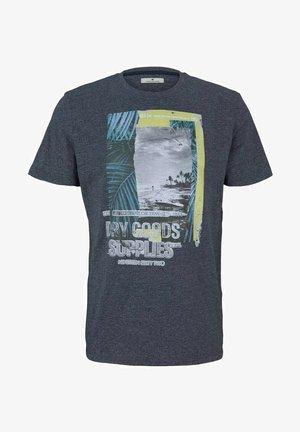 FOTOPRINT - T-shirt print - sailor blue grindle melange